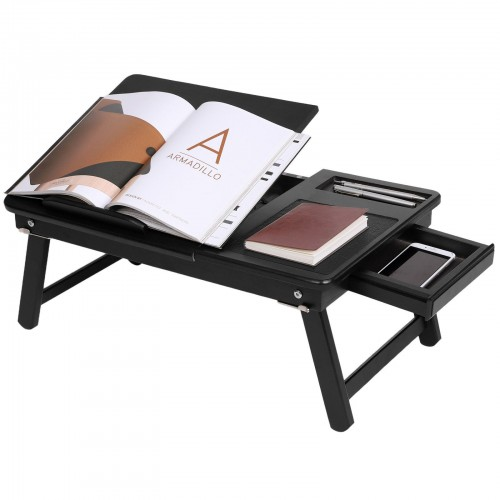 Bamboo Black Laptop Desk