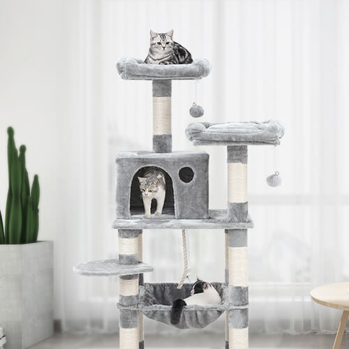 FEANDREA dual platform cat tree