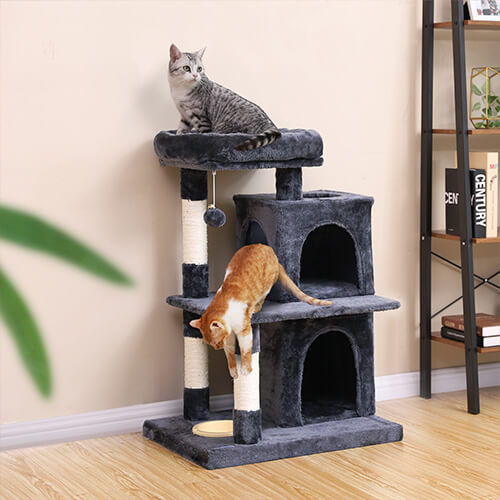 FEANDREA dual condo cat tree