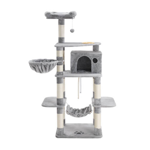 FEANDREA cat tower with feeder